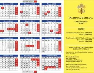 Calendario aperture