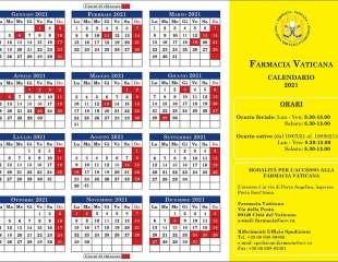 Calendario Aperture 2021